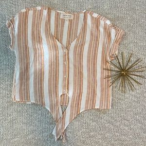 Cloth & Stone Anthropologie Striped Button-Up